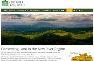 image of home page of NRLT's new website