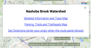 Image of an info window for a property on the locator map.