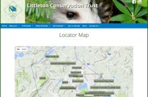 Image of Littleton Conservation Trust's website
