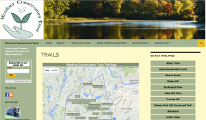 Image of Westford Conservation Trust Website