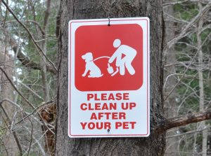 Image of clean up after your pet sign