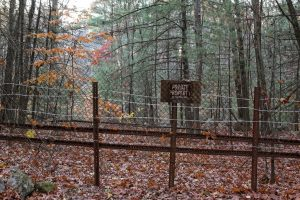 Image of fence and sign